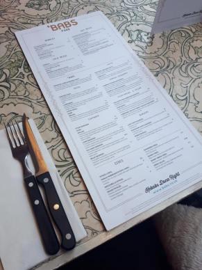 babs glasgow food menu