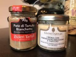 truffle puree and parmesan cream